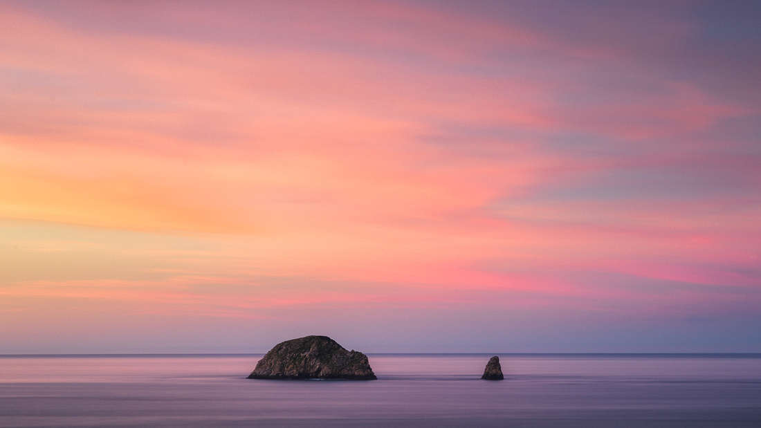 Two Stacks Sunset | Port Orford (OC33)